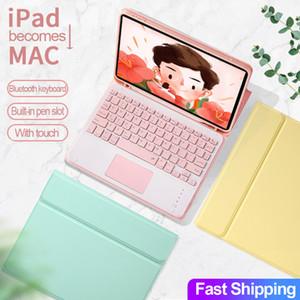 Para el teclado de la caja del iPad con el touchpad Mouse iPad Pro 9.7 10.5 11 10.9 AIR 2 3 4 2018 2019 2020 10.2 8ª 7ª 5 6 CUBIERTA DE GENERACIÓN