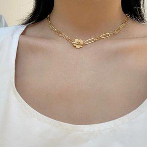 PERI'SBOX pequena flor grande cadeia colares frisado Natural de água doce pérola colares para mulheres Alternar fecho de fecho amor coração1