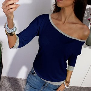 Summer Fashion 3 4 Sleeve Sexy Off Shoulder Casual Tops Womens Solid T Shirt Plus Size Xl Female T Shirt Camisa Mujer