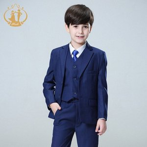 Nimble Blue boys suits for weddings kids Blazer Suit for boy costume enfant garcon mariage jogging garcon blazer boys tuxedo kIQz#
