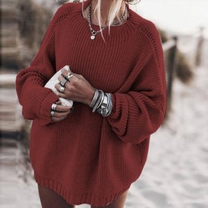 Loose Sweater Women Sexy Knitted O Neck Sweater Oversized Batwing Sleeve Sweaters Pullover Autumn Casual Knitwear