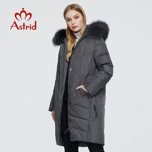Astrid 2020 Winter Women's Coat Women Long Warm Parka Jacket with Fox Fur Hooded Bio-down Female Clothing New Design 9172