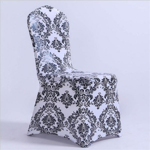 New design 100pcs print spandex chair covers & wedding chair covers free shipping decoration free shipping factory price1
