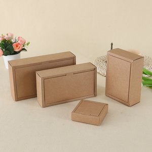 4 Size Kraft Paper Tea Package Box Gift Packaging Soap Jewlery Packing Box Candy Boxes WB2885