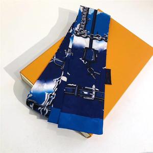 HO Classic Seide Handtasche Tasche Schal Stirnbänder Neue Frauen Brief Blume Silk Scraves Top Grad Seide Tasche Schal Haarbänder 8x120cm