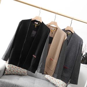 20FW Automne Hiver Nouveau style veste en tricot rayé Veste Brochage Mode Gilet Loose hommes Veste design Taille haute qualité M-3XL