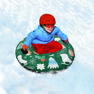 Floated Skiing Board PVC Winter Inflatable Ski Circle With Handle Durable Children Adult Outdoor Snow Tube Skiing Accessories #C F1223