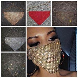 Partido elegante máscara atractiva mitad Accesorios máscara del partido de lujo de Diamond facial máscaras Dance Women Hallowma Cara del verano AYP759 elegante Pa Xoll
