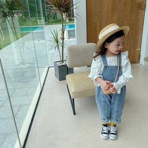 Milancel Neue Kinder Kleidung Mode Boy Overalls Mädchen Denim Jumpsuit Koreanische Kinder Hosen 201112