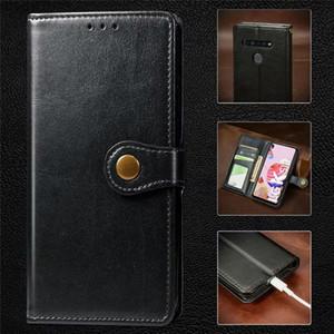 Mode couleur unique flip pour LG K40 K50 W10 W30 Pro 5 Stylo5 G3 Stylo Wallet Card Stand Case Pocket Phone Cover