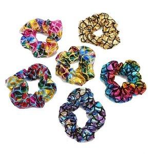 6 Colors Women Mermaid Elastic Ponytail Holder Girls Hair rope Hair Ties Accessories hairbands Rubber Band