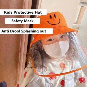 Şapka ile Çocuklar Toz Geçirmez Çocuk Drool Koruyucu Pamuk Anti Fisherman Sıçrayan Maske SLPX # Güvenlik Havzası HHA1175 CAP LGXIO DQVFQ