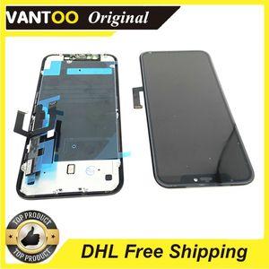 "OEM Orijinal LCD Ekran iPhone XR Ile Geri Metal Plaka Siyah Renk 6.1 ""Ücretsiz Kargo"