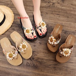 Can Under The Water New Beach Shoes Women Cool Slippers Summer Fashion Seaside High-heeled Anti-slip Outside Wearing Thick Sole