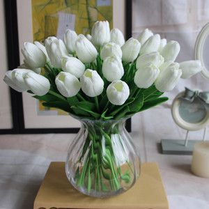 Artificial Flowers Mini Tulip Silk Artificial PU Flower Bouquet Real Touch Flowers For Home Decoration Wedding Decorative Flowers