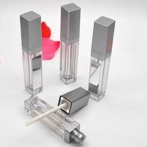 Wholesale LED Empty Lip Gloss Tubes Square Clear Lip Gloss Tubes Lipgloss Bottle Containers Makeup Packaging with Light Mirror