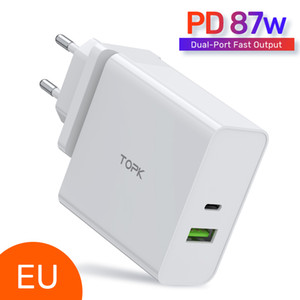 TOPK 65W PD USB Fast Charger USB Type C Charger Quick Charge 3.0 for MacBook Pro Laptop Tablet Charger for mobile phones FY7477