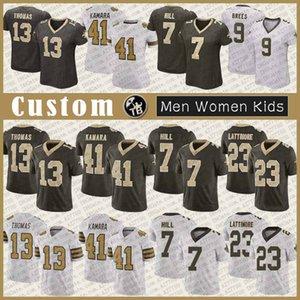 9 درو بريس نيو اورليانزسانت الرجال مخصص للنساء كيد كرة القدم جيرسي 41 ألفين كامارا 23 Marshon في Lattimore 7 تايسوم هيل 13 توماس كوك 87