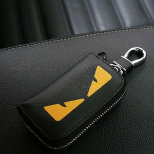 Luxo Chaveiros Bolsas Designer Key Bag Monstro Handmade Marca chaveiro de couro elegante Key Buckle 4 Modelos Opcional Altamente qualidade