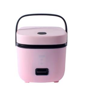 1.2L مصغرة طنجرة الأرز الكهربائية 2 طبقات التدفئة الغذاء باخرة متعددة الوظائف وجبة الطبخ وعاء 1-2 الناس الغداء مربع