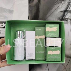 viaggio famoso La Moisturing cura della pelle set set Mer detergente + crema di BB + occhio concerntrate + crema idratante + potere + sciolto lozione radiante 8pcs