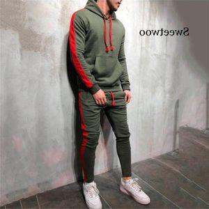 Hot Moda Sweetwoo Homens Running Set 2Pcs Sport Sports Sportswear Gym Sportswear Hip Hop Moletons 3xl