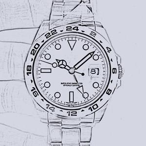 U1 Fábrica 216570 Relógios de alta qualidade de alta qualidade EXP Black 40mm Sapphire Cal.2813 Aço automático com GMT Dial 316L Pulseira de Aço Watche