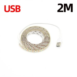 Led Smart Sensor Light Strip 1m 2m Flexible Waterproof Bedroom Cabinet Light Strip 2835 Dc 5v Infrared Sensor Light Strip Swy jllTug