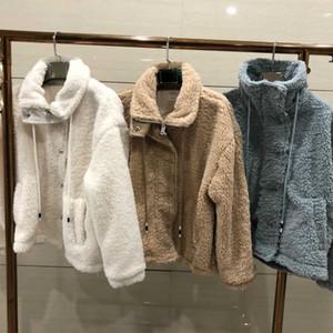 Yeni kış sıcak ceket taklit kürk kadın ceket Lüks kuzu yünü sıcaklık kadınların ince yumuşak ceket