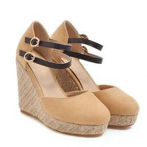 Feminino Espadrille Ankle Strap Sandálias Confortáveis Chinelos Senhoras Senhoras Sapatos Casuais Respirável Flax Bombas de Canvas