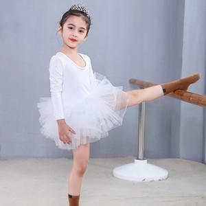 Children girls dancewear Dance skirts Students performance clothing kids Ballet skirt lace Tutu Tulle dress baby Spring autumn dress C727