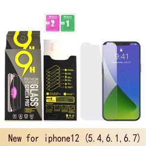 Protector de pantalla para iPhone12 11 Pro Max Max XS XR vidrio templado para el iPhone 7 8 Plus 0.33mm Huawei P40 película del protector de la caja de papel