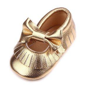 Cute Baby Girl Shoes Newborn First Walkers Fringe Tassel Bow Princess Shoes Enfant Moccasins PU Soft Sole Toddler Girl