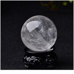 Natürliche runde Stein Quarz Kugel Amethysts Rose weiße Quarzkristall Obsidian Citrines Steinkugel Ball Reiki Qylweu