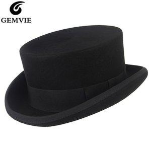 ورأى الصوف أعلى قبعة للرجال / نساء اسطوانة جديدة قبعة توبر جنون هاتر بيرت حلي فيدورا ديربي الساحر قبعة Y200110
