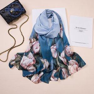 DIANRUO Fashion Women Scarf Silk Scarves Lady Shawl Wrap Hijab Female Bandana Pashmina Headband Square Neck Headscarf R380 201102