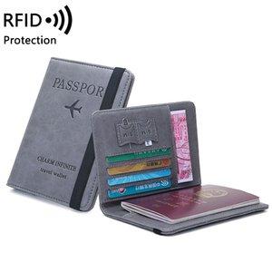 أساس جواز سفر التجاري للرجال والنساء خمر RFID، متعددة الوظائف قاطرة طائرة، محفظة الاصطناعية، السفر الملحقات