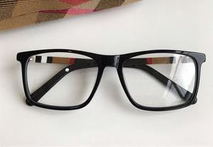 Newarrival Quality Conciso rectangular Unisex Glasses Marco 54-17-140 Diseñador a cuadros para gafas de prescripción Caja de placa pura