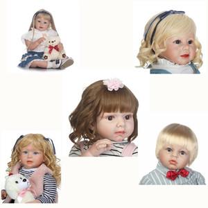 NPK 28 inç Reborn Toddler Bebek Yapışkan Saç Peruk 70 cm Silikon Gerçekçi Yeniden Doğmuş Bebek Bebekler Saç Peruk DIY Bebek Aksesuar LJ200828