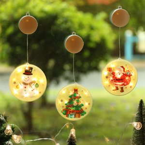 Palavras luzes coloridas LED Household Ornamento Moda stickable Feliz Natal Papai Noel Padrão Energy Saving Lamp Cordas J2 10 5sy
