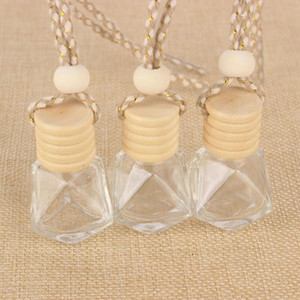 Wooden Cap Plastic Tip Glass Car Diffuser Perfume Fragrance Bottles 5ml Empty Container LX9235
