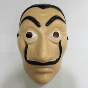 Plastic Dali Mask Paper House La Casa De Papel Cosplay Decoration Masquerade Halloween Funny Tools Unisex