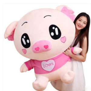 39'' Giant Big Pink Pig Toy Plush Stuffed Animal Soft Doll Pillow Birthday Gifts