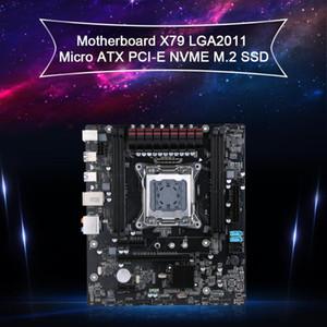 Jingsha-mãe X79 LGA2011 Micro ATX PCI-E NVMe M.2 SSD Suporte REG ECC Memória e Xeon E5 Processor