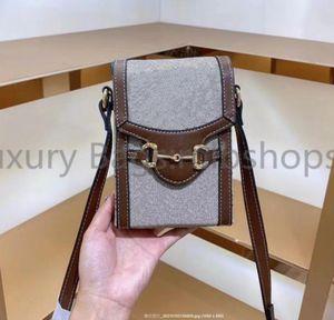 luxurys designers bags Fashion womens CrossBody Canvas Flap bag Printed Handbag ladies Shoulder Bag purse 2021 Mini Mobile Bags Handbags919