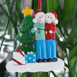 FA Kardan Adam Dekorasyon Aile Karantina Toptan PVC Ucuz Noel Ağacı Çin Süs 2020 DIY Maske Kolye Noel Şanslı Tupwr