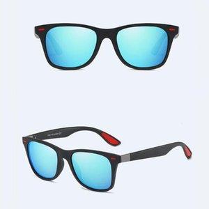 Солнцезащитные очки 2021 Мода Квадратные Дамы Поляризационные мужские Очки Классический Ретро Дизайн Бренд Вождение Женщин Мужчин УВ4001