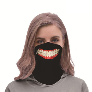 Classic Tokyo Ghoul Cosplay Masks Kaneki Ken Headband Riding Travel Scarf Windproof Street Dust-proof Breathable Mask