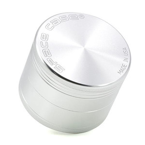 63mm 4pc rectifieuse CNC aluminium meules avec broyeur détecteur de fumée de cigarette de tabac logo Rectifieuse fumée du tabac VS meuleuse sharpstone spic