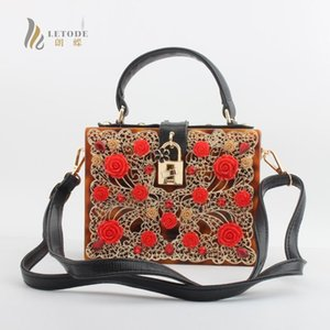 Floral Crystal Women Evening Totes Bag Leopard Acrylic Clutches Shoulder Handbags Crossbody Bags Hardcase Ladies Box Clutch Bag